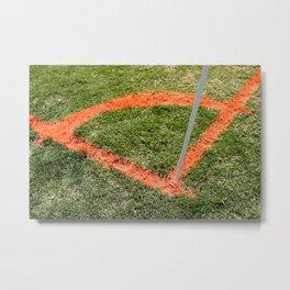 Soccer Corner Metal Print