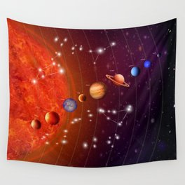 Planeten Wall Tapestry