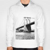 brooklyn bridge Hoodies featuring Brooklyn Bridge by Amy Giacomelli