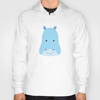 hippo Hoodies featuring Hippo by Ilona