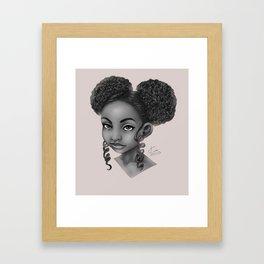 Puffs and Curls Framed Art Print