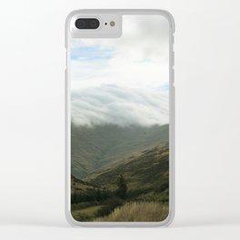 clouds rolling in Clear iPhone Case