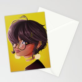 Glass girl Stationery Cards