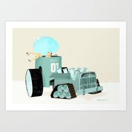 Karen form Chicks & Wheels Art Print