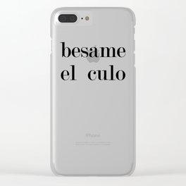 Besame Clear iPhone Case