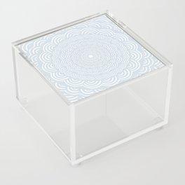 Spiral Mandala (Cool Gray) Curve Round Rainbow Pattern Unique Minimalistic Vintage Zentangle Acrylic Box