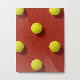 BALLS / Tennis (Clay Court) / Pattern Metal Print
