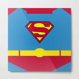 Superman - Superhero Metal Print
