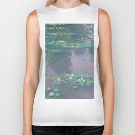 Water Lilies Monet 1905 Biker Tank