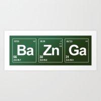 bazinga Art Prints featuring Breaking Bazinga by dutyfreak