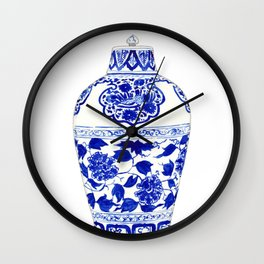 Blue and White China Ginger Jar 1 Wall Clock