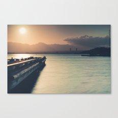 Summertime Feeling (Dock Sunset) Canvas Print
