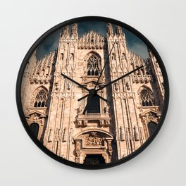 Milan Cathedral, Duomo di Milano, Gothic church, Lombardy, Milan photography Wall Clock