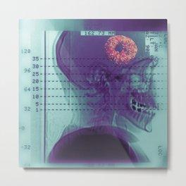 Donut Brain Metal Print