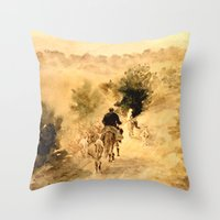 return Throw Pillows featuring Return Home by Vargamari
