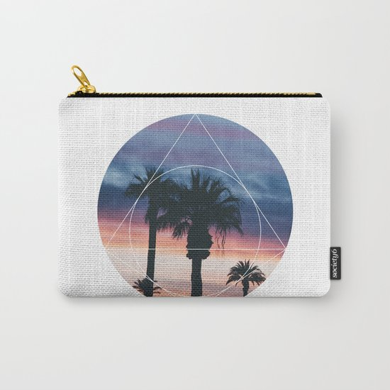 Sunset Palms - Geometric Photography Carry-All Pouch