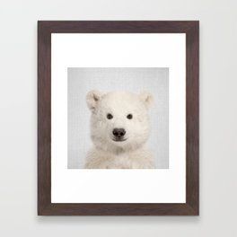 Polar Bear - Colorful Framed Art Print