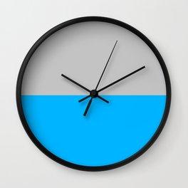 2-Tone Blue Wall Clock