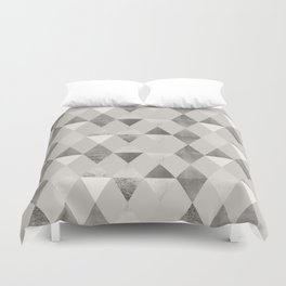 FUNKY PATTERN Triangles brown Duvet Cover