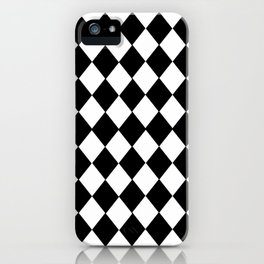 HARLEQUIN BLACK AND WHITE PATTERN #2 iPhone Case