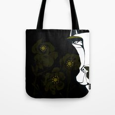 Dog and Flowers Tote Bag