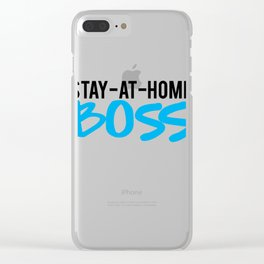 mom boss Clear iPhone Case