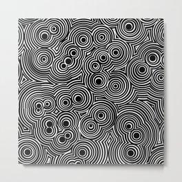 B&W Trip-notic Metal Print
