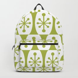 Mid Century Modern Atomic Fusion Pattern Chartreuse Backpack