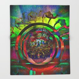 Cosmic Spin Throw Blanket