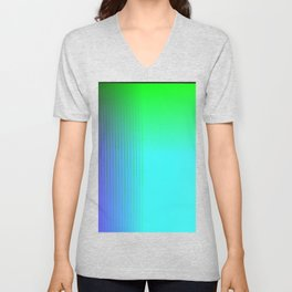 Cyan Green Purple Red Blue Black ombre rows and column texture Unisex V-Neck