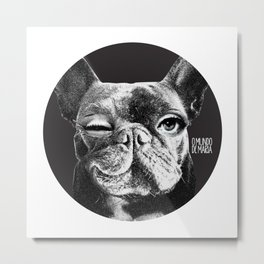 FRENCH BULLDOG FORNASETTI BLINK Metal Print