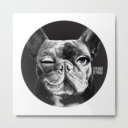 FRENCH BULLDOG FORNASETTI BLINK Metal Print