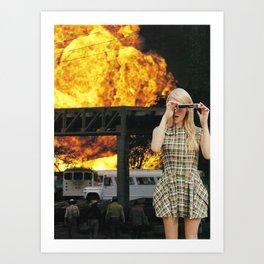 Burn Art Print