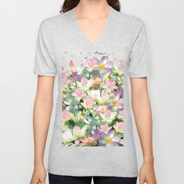 Lotus bloom Unisex V-Neck