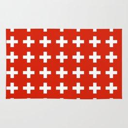 flag of switzerland 2-Switzerland, Alps,swiss,Schweizer,suisse,zurich,bern,geneva Rug