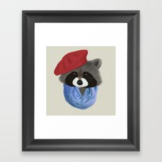 Hip Raccoon Framed Art Print
