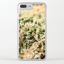 Diamond OG Indoor Hydroponic Close Up Trichomes Viewing Clear iPhone Case