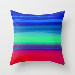 Rocket Blue Throw Pillow