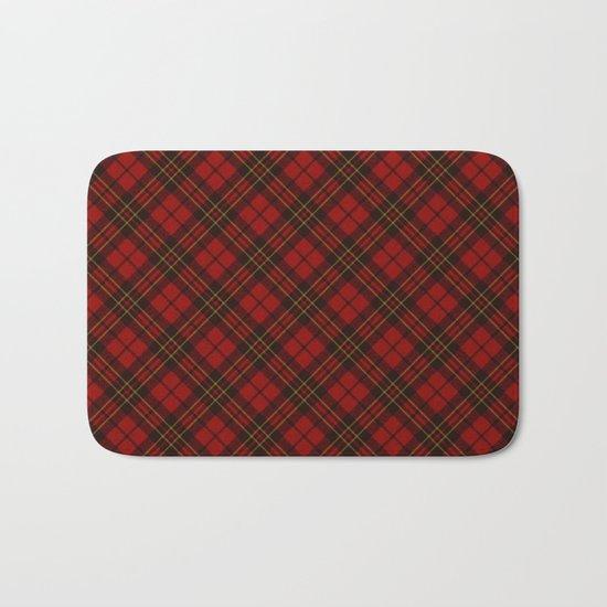 Adorable Red Christmas tartan Bath Mat