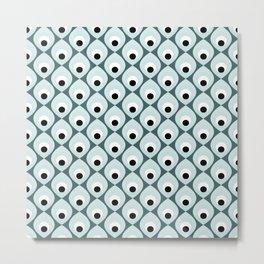 Retro petals design - Pine and mint Metal Print
