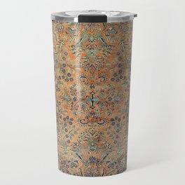 Kashan Floral Persian Carpet Print Travel Mug