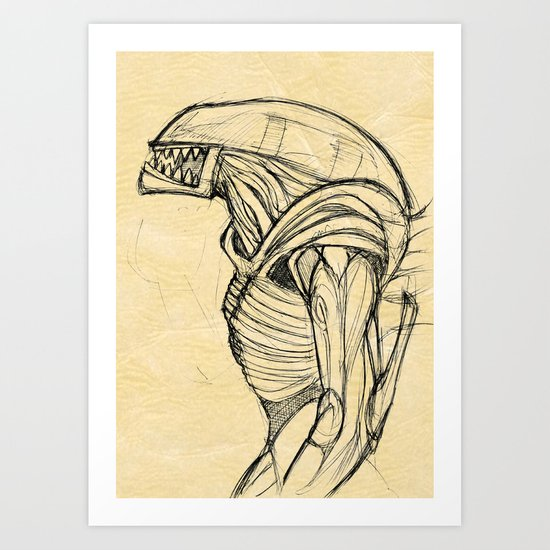 ALIEN3 SKETCH Art Print