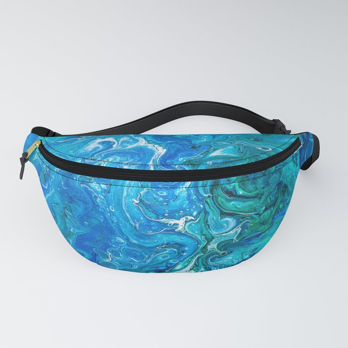 Elegant Crazy Lace Agate 2 - Blue Aqua Fanny Pack