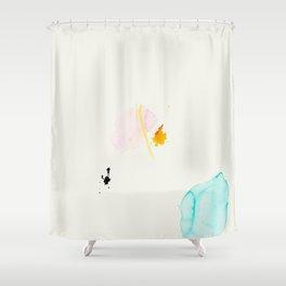 Minimum - minimal artwork by Jen Sievers Shower Curtain