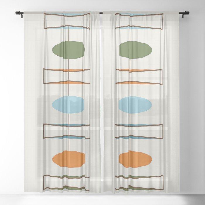 Mid-Century Modern Art 1.2 Sheer Curtain