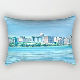 Madison Skyline Rectangular Pillow