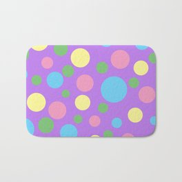 Colorful circles pattern Bath Mat