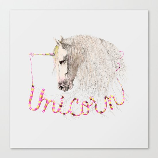 Pink Unicorn Canvas Print