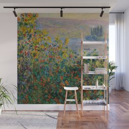"""Claude Monet """"Flower Beds at Vétheuil"""" Wall Mural"""