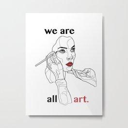 The World of Walking Art (Color) Metal Print